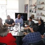Reunión con sindicalistas Internacionales